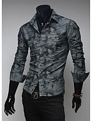 Manlodi Men's Camouflage Fashion Slim-Fitting Shirt