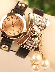 POPPY Women's Elegant All Match Imitation Diamond Bow Bracelet Watch