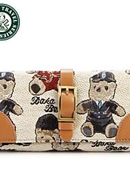 DAKA BEAR® Lady New Designer Purse Womens Wallet Korean Clutch Bag