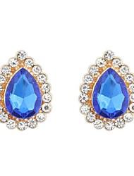 Women's EU&US Gorgeous Tear Shape Needle Stud Earrings