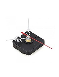 Clock Movement Mechanism with Silver Hour Minute Red Second