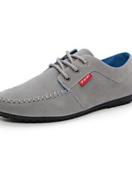Men's Shoes Casual Faux Leather Oxfords Black/Blue/Gray