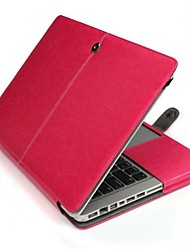 effen kleur pu leer full body case voor de MacBook Pro 15 ""