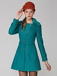 OSA ® Women's Winter Long Sleeve Fold  Fashion Slim Woolen  Outerwear