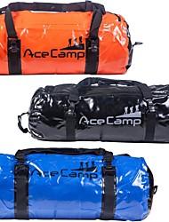 outdoor camping opvouwbare waterdichte droge zak duffel 60x30cm 40l (oranje blauw zwart)
