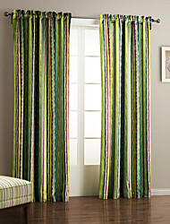One Panel Curtain Designer , Stripe Living Room Polyester Material Curtains Drapes Home Decoration For Window
