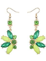 Women's EU&US Fancy Beaded Flower Hooked Dangle Earrings