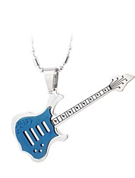 Stainless Steel Guitar Necklace (Four Colors)