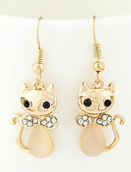 Sweet Cute Cat Exquisite Fashion Rhinestone Earrings(More Colors)