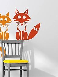 jiubai® raposa dos desenhos animados parede adesivo de parede do decalque