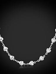 U7®New Cool Women's 316L Titanium Steel Hearts Link Chain Necklace High Quality Jewelry Gift for Women