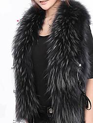 XT Women's Sleeveless Slim Temperament Elegance Fur Waistcoat
