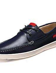 Chaussures Hommes Bureau & Travail Noir / Bleu / Rouge / Marine Cuir Chaussures Bateau