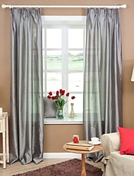 Two Panels Solid Geometric Green Grey Purple Red Bedroom Sheer Curtains