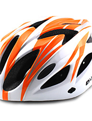 ungrol 18 respiraderos eps + naranja + blanco pc integralmente moldeado del casco en bicicleta súper ligero (56-64cm)