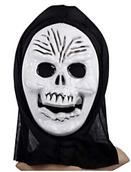 Skeleton Tricky PVC Halloween Mask(Random Color)