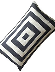 Black and White Formula Box Decorative Pillow with Insert