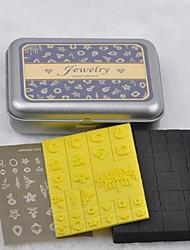 étain boîte à bijoux en plastique bricolage joint mousse timbre ensemble