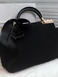 omei Damenmode elegant solide Farbband Freizeit-Einkaufstasche