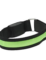 levou luz braço cinta banda braçadeira verde (2xcr2032)