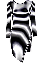 City Style Women'S Stripe Fitted Dress