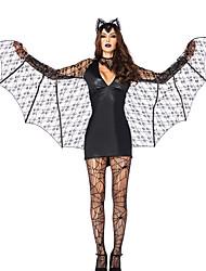 Evil Vampire Bat Black Terylene Halloween Costume