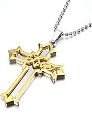 Ожерелье Ожерелья с подвесками Бижутерия Для вечеринок Спорт Новогодние подарки Крестообразной формы Сплав Подарок Серебряный
