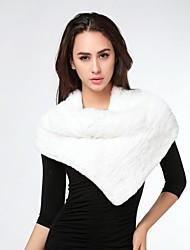 auténtico conejo bufanda pañuelo para el cuello de la piel de las mujeres