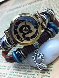 Women's Personalized High-grade Butterfly Pendant Leather Quartz Movement Bracelet Watches