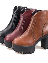 женская обувь сапоги мода коренастый пятки лодыжки сапоги больше цветов