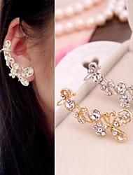 borboleta moda clipe de brincos de pedras preciosas ms diamante de ouvido (1pc)