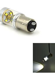 jmt412 1157-BAY15D 30w 400LM 6 x cree XBD luz branca fria carro de direção / freio com pilar a reflexão da luz (DC12-24V)