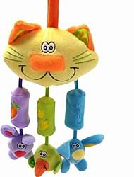 playgro vento bebê gato bate com 3 pequeno animal de pelúcia boneca