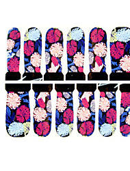 12PCS Abstract Colorful Flower Pattern Watermark Nail Art Stickers C5-019