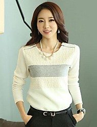 Women's Long Sleeved Lace Sweater