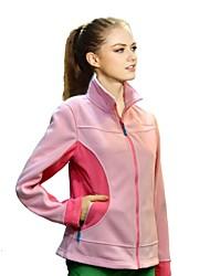 quirell azul de poliéster térmica de manga larga de lana de la mujer chaquetas de color rosa