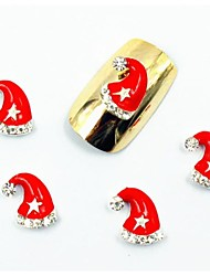 50PCS 3D Christmas Nail Designs False Diamond Rhinestone Glitter for Acrylic Nail Tips False Nail Art Decorations