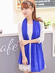 liefde citeert damesmode effen kleur royal blue shawl / sjaal 160 * 50cm_40846889663