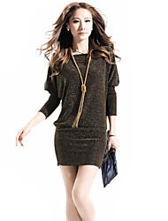 p&manches chauve-souris de la mode col rond l'moulante de femmes h dress_b29 -8892 couleur de l'écran