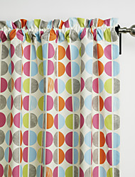 Philips Young - (Two Panels) Contemporary Multi Color Minimalist Circles Curtain