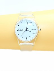 Women's  English Small Fresh And Simple Transparent Band Quartz Analog Wrist Watch Cool Watches Unique Watches Fashion Watch