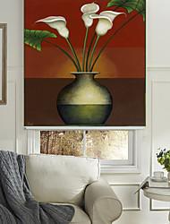 classici colori caldi vaso fiori a grappolo ombra rullo