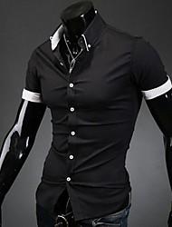 rayas de los hombres manlodi recubren Silueta entallada camisa