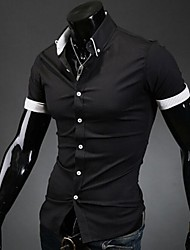 Manlodi Men's Stripes Lining Slim-Fitting Shirt