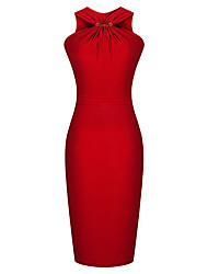 Dolce Women's Sleeveless Fitted Pencil Dress