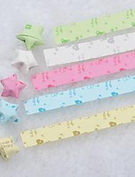 5 couleurs matériaux d'origami modèle ours lucky star (85 pages / paquet)