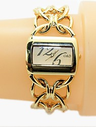 Damen Quartz Legierung Band Gold Golden Gold/Weiß
