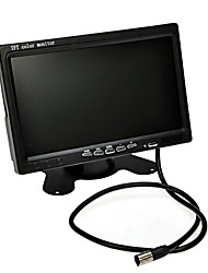 """utilidad de 7 """"TFT color del monitor del espejo retrovisor del coche de aparcamiento pantalla lcd de respaldo + cámara de visión nocturna Kit de"""