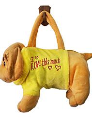 Yellow Dog Design Plush Toys Soft Hand Bag(Random Color)