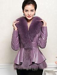 Women's Fashion Elegant Goatskin Outerwear (More Colors)